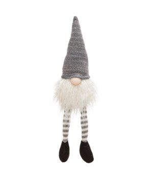 Dangle Leg Grey Hat Santa Gnome