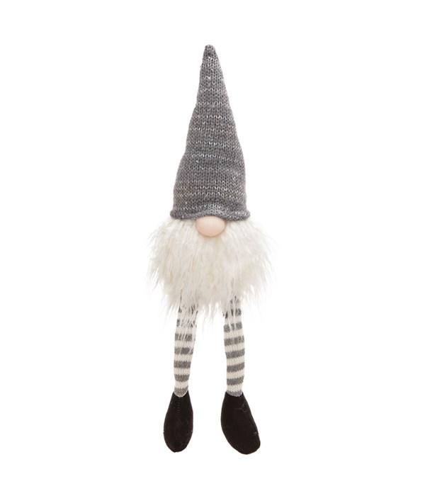 Dangle Leg Grey Hat Santa Gnome
