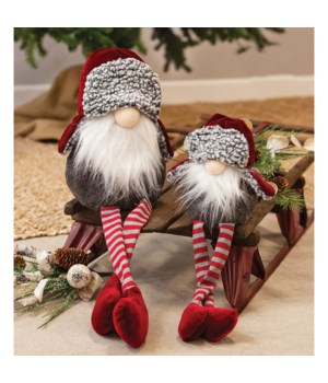 Lg Dangle Leg Santa Gnome