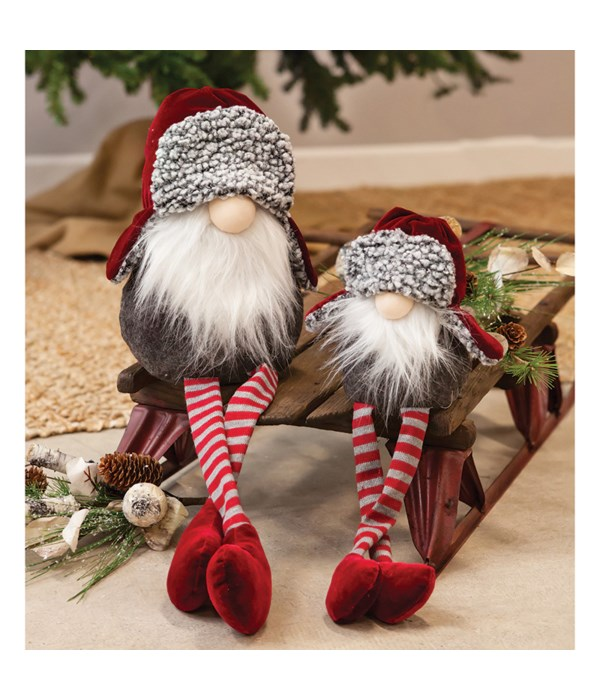 Lg Dangle Leg Santa Gnome