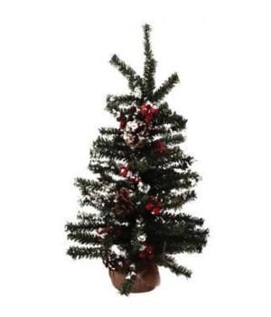 Lg Snowy Pine w/Berries