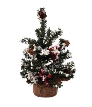 Sm Snowy Pine w/Berries