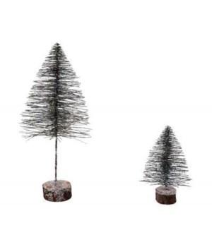 Lg Flat Bottle Brush Tree