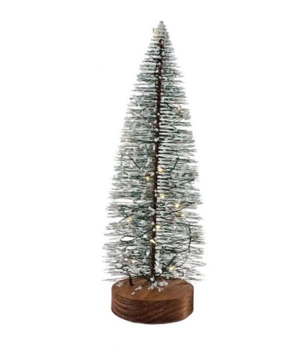 Bottle Brush Tree w/LED Light