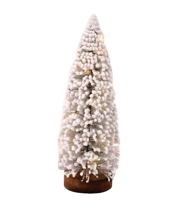 Lg Flocked Bottle Brush Tree