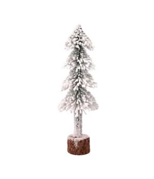 Lg Flocked Skinny Tree