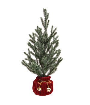 Christmas Tree with Cloth Pot and Gold Bells
