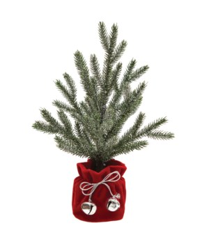 Christmas Tree with Cloth Pot and Silver Bells