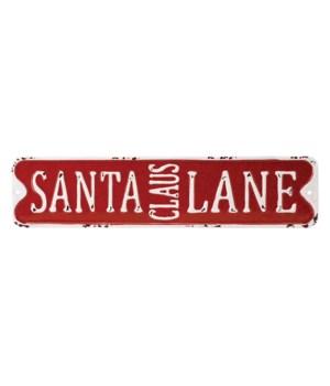 Metal SANTA CLAUS LANE Sign