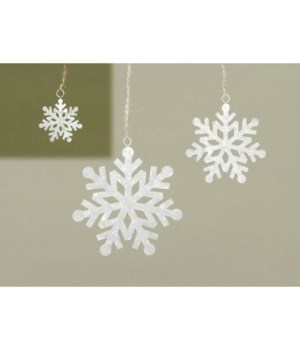 Sm Galvanized Snowflake Ornament