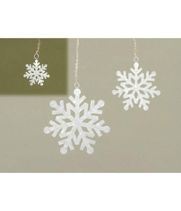 Sm Galvanized Snowflake Ornament