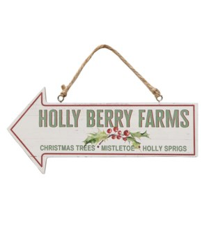 Holly Berry Farms Arrow Sign
