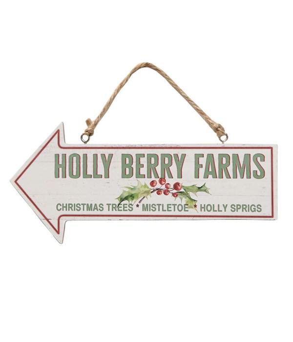 Holly Berry Farms Arrow Sign