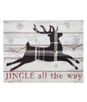 Jingle All the Way Sign with Reindeer