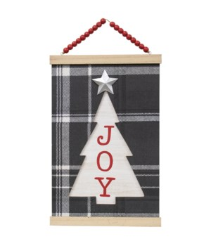 Joy w/Christmas Tree Plaque