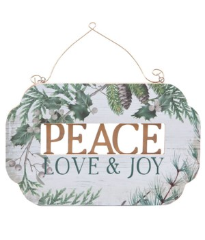 Peace Love and Joy Plaque