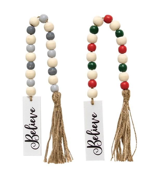 2 Asstd Believe Tassle Garland w/Beads