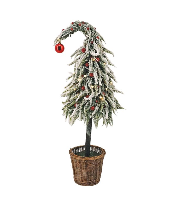 Lg Curly Christmas Tree w/LED Light