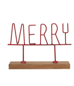 Red Merry Sign