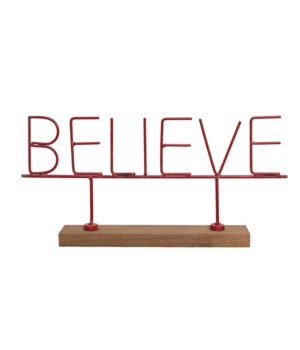 Red Believe Sign