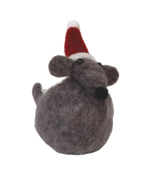 Sm Felted Christmas Mouse