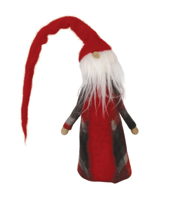 Lg Felted Santa Gnome w/Long Hat