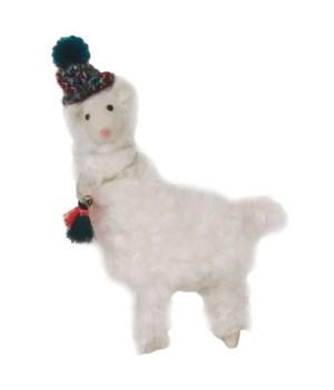 Felted Fluffy Llama w/Hat