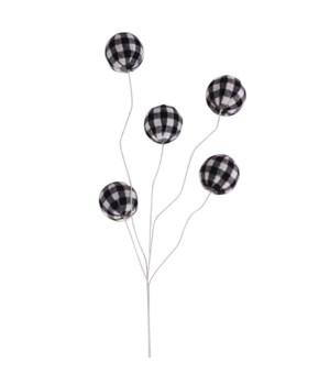 Black/White Plaid Ball Pick