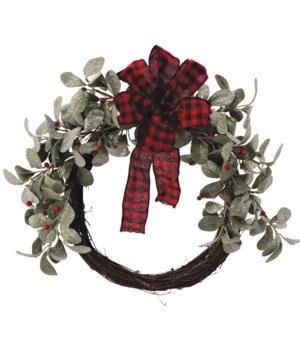 Mistletoe/Rattan Wreath
