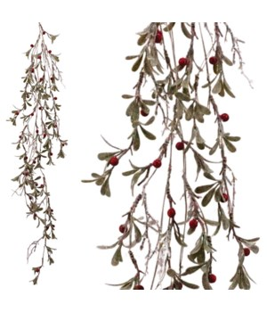 Frosted Garland w/Red Berry
