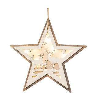 Star Moose Cutout Ornament
