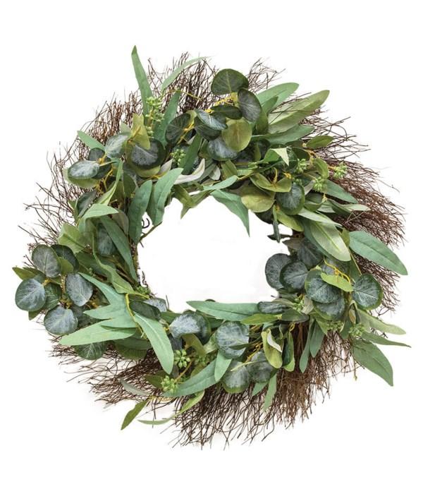 Green Leaf w/Seed Wreath