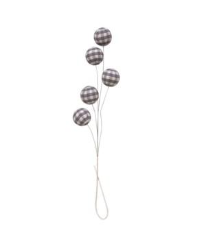 Gray Plaid Ball Spray
