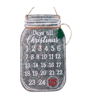 Galvanized Mason Jar Countdown
