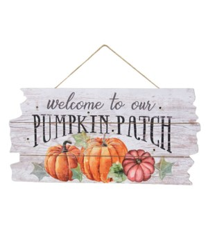Pumpkin Patch Sign with LED Light