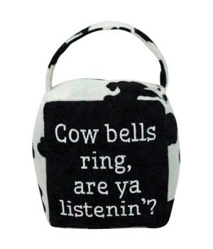 Cow Print COW BELLS RING Doorstop