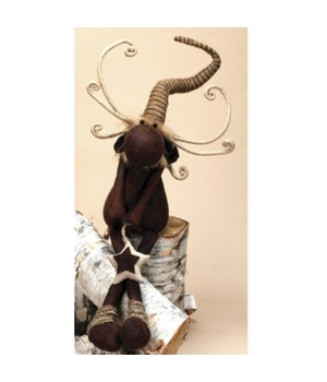 Lg Dangle Leg Plush Woodland Reindeer