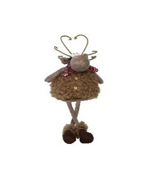 Sitting Fuzzy Moose w/Dangle Legs