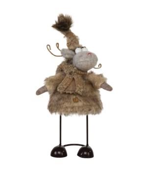 Sm Plush Furry Wobble Moose