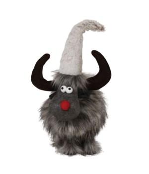 Sm Plush Furry Grey Wobble Moose