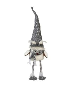 Dangle Leg Plush Owl w/Grey Hat