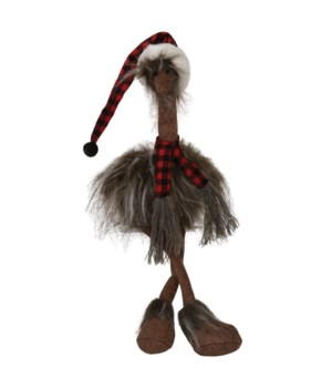 Dangle Leg Plush Furry Ostrich