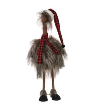 Standing Plush Furry Ostrich
