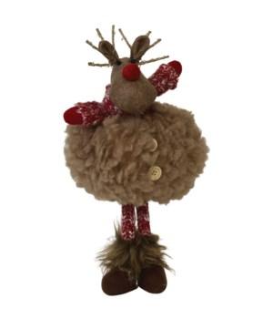 Dangle Leg Plush Fluffy Deer w/LED Light Antlers
