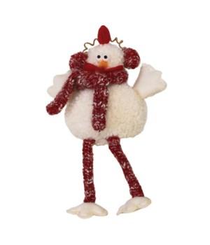 Sm Dangle Leg Plush Fluffy Chicken