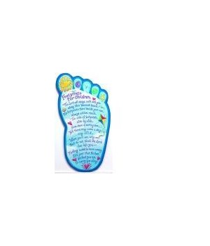 FOOTPRINTS CHILDREN'S WALL PLAQUE INDIVIDUALLY BAGGED