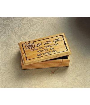 CONFIRMATION WOOD KEEPSAKE BOX