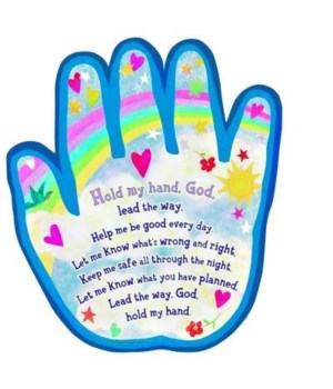 HOLD MY HAND, GOD WALL PLAQUE INDIVIDUALLY BAGGED