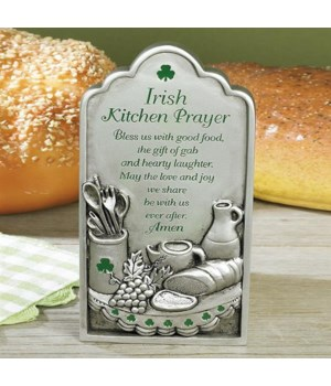 IRISH KITCHEN PRAYER PLAQUE W/EASEL BACK BOXED