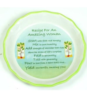 AMAZING WOMAN PIE PLATE BOXED W/CARD